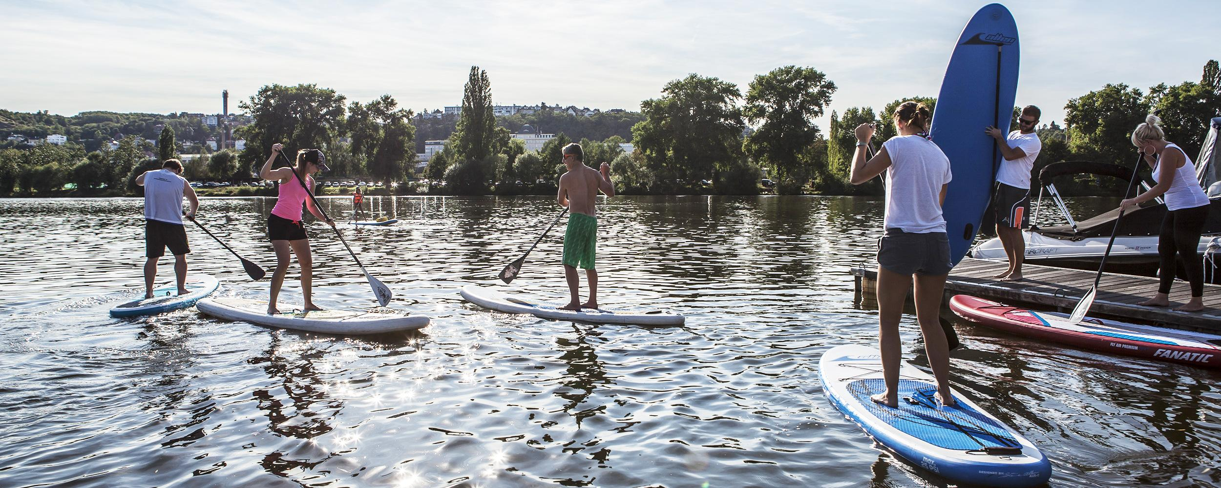 Paddleboarding  akce